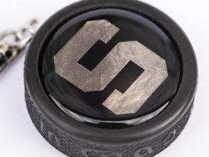 3D Mini Eishockeypuck als Schlüsselanhänger