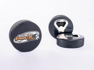 Eishockeypuck als Flaschenöffner
