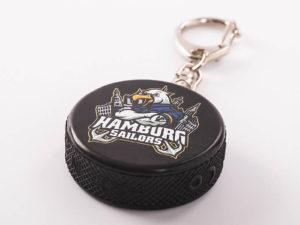 Mini Eishockeypuck als Schlüsselanhänger