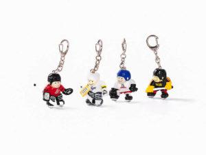 Mini Eishockeyspieler als Schlüsselanhänger