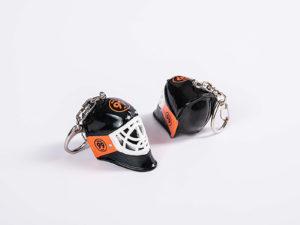 Mini Eishockeytorwartmaske als Schlüsselanhänger
