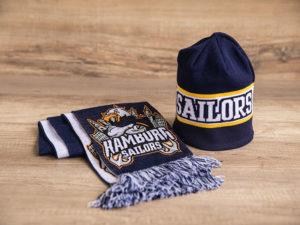 Schal- und Mützenset für Fanshop und Teams